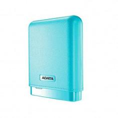 Baterie portabila A-Data PV150, 10000mAh, intrare microUSB DC 5V/2A, albastra - Baterie externa