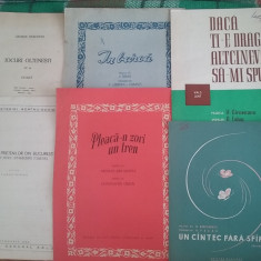 Lot 12 partituri muzicale vintage /  C2DP