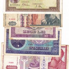 15) Lot 6 bancnote 1941, 1992, 1994, 1966, 1998 - Bancnota romaneasca