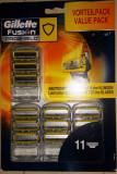Set 11 rezerve Gillette Fusion Proshield SUPER PRET