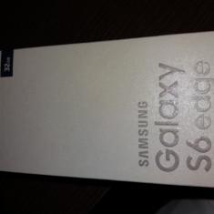 Samsung Galaxy S6 Edge Black Saphire sigilat garantie 2 ani - Telefon Samsung, Negru, 32GB, Neblocat