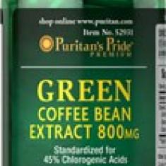 CAFEA VERDE EXTRACT STANDARDIZAT 800 MG, 60 CAPS, SLABIRE, ANTIOXIDANT