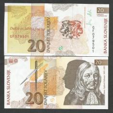 SLOVENIA 20 TOLARI TOLARJEV 1992 UNC [1] P-12a, necirculata - bancnota europa