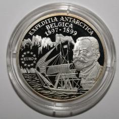 OKAZIE!!! MONEDA BNR - 100 LEI 1999 - 100 ani de la Expediţia navei Belgica . - Moneda Romania, Argint