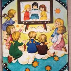 Carte de povesti pentru copii, numai imagini, 8 pagini de carton tare, Craciun