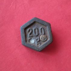 Greutate de cantar, greutate balanta veche 200g