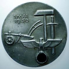 I.673 GERMANIA AL III-LEA REICH INSIGNA NAZISTA 1 MAI 1936 35, 5mm HERMANN BAUER, Europa