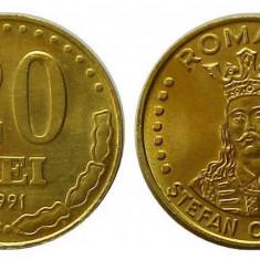 ROMANIA 20 LEI 1991 UNC DIN FISIC