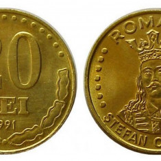 ROMANIA 20 LEI 1991 UNC DIN FISIC - Moneda Romania