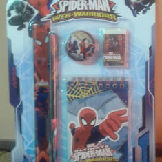 Set instrumente cu notes Spiderman - Set rechizite Disney
