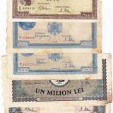 23) Lot 5 bancnote 1941, 1943, 1944, 1947 - Bancnota romaneasca