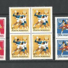 (No 2)timbre-Romania 1975--L.P-870-Jocurile Universitare De Handbal-bloc de 4