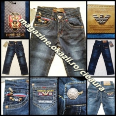 BLUGI COPII 2 3 4 ANI GEN FIRMA ARMANI made in ITALY 100% BUMBAC BLUE JEANS, Marime: S, M, L, Unisex