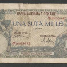 ROMANIA 100000 100.000 LEI 1 APRILIE 1946 [1] - Bancnota romaneasca