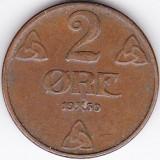 Norvegia 2 ORE 1950, Europa, An: 1960
