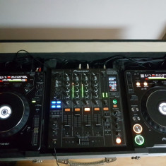 Pupitru DJ - 2 x CDJ 1000 MK3 + DJM 800 + case - Mixere DJ Pioneer