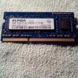 DDR3 RAM laptop memorie ELPIDA 4GB 1RX8 PC3L 12800 frecventa 1600 Mhz