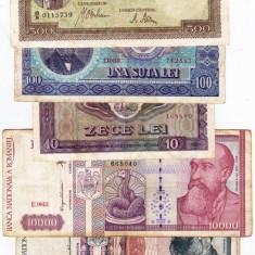 24) Lot 6 bancnote 1941, 1992, 1994, 1966, 1998 - Bancnota romaneasca
