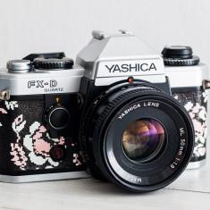 Yashica FX-D + Obiectiv la alegere, aparat foto vechi functional, film, colectie - Aparat Foto cu Film Yashica, SLR, Mic
