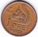Norvegia 1 ORE 1967 fauna veverita, Europa