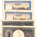 22) Lot 5 bancnote 1941, 1943, 1944, 1947 - Bancnota romaneasca