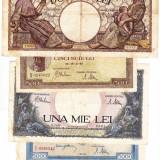 19) Lot 5 bancnote 1941, 1943, 1944 - Bancnota romaneasca