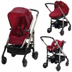 Carucior Trio Loola 2 Raspberry Red - Carucior copii 3 in 1 Bebe Confort