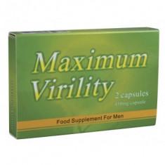 Pastile 2 BUC Potenta Ejaculare Precoce Impotenta Erectie MAXIMUM VIRILITY - Stimulente sexuale