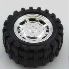 Roata de 52 mm din Plastic pentru Ax de 2.5 mm