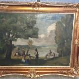 Tablou ulei pe panza semnat Ivanyi Grunwald Bela. - Pictor roman, Scene gen, Impresionism