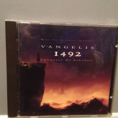 VANGELIS - 1492 CONQUEST OF PARADISE (1992/ WARNER /GERMANY ) - ORIGINAL/CA NOU - Muzica soundtrack warner, CD