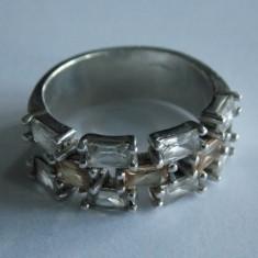 Inel de argint cu zirconii -884 - Inel argint