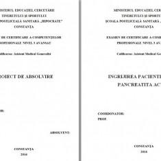 LUCRARE DE LICENTA AMG – INGRIJIREA PACIENTILOR CU PANCREATITA ACUTA (1)