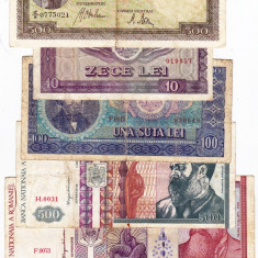 25) Lot 6 bancnote 1941, 1992, 1994, 1966, 1998 - Bancnota romaneasca