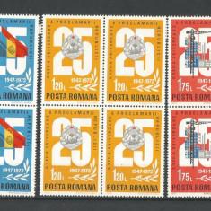 (No 2)timbre-Romania 1972--L.P-813-A XXV-a Aniversare a Proclamarii Republicii