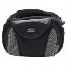 Geanta nylon pentru aparat foto, 4 buzunare, neagra, Esperanza - Geanta laptop