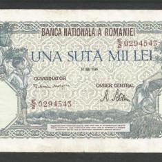 ROMANIA  100000  100.000 LEI  28  MAI  1946   [15]   VF