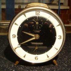 Ceas de masa vintage mecanic JUNGHANS BIVOX -cititi descrierea!