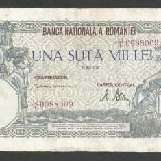ROMANIA  100000  100.000 LEI  28  MAI  1946   [14]   VF+