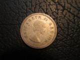 Africa de Sud _ 3 pence _ 1956, Argint