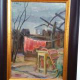 CALIN ALUPI - pictor ( artist ) iesean - tablou -Peisaj urban - ulei / carton - Pictor roman, Peisaje, Realism