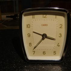 Ceas de masa vintage mecanic CARO -cititi descrierea!