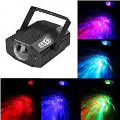 SCANNER DE LUMINI DISCO MOTORIZAT, LED, SENZOR MUZICA SUPER EFECT LUMINI, COLOR. - Lumini club