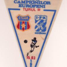 Fanion fotbal STEAUA BUCURESTI - IFK GOTEBORG 15.03.1989