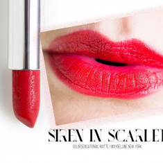 In STOC! Ruj Maybelline Color Sensational Matte - 965 Siren in Scarlet