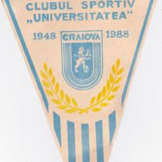 Fanion fotbal UNIVERSITATEA CRAIOVA - aniversare 40 de ani