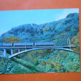 HOPCT 21730 JAPONIA PEISAJ CU POD FEROVIAR /TREN -NECIRCULATA, Printata