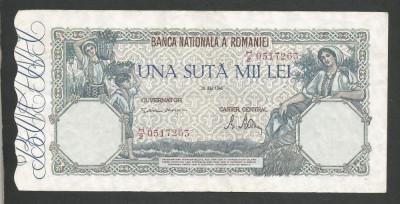 ROMANIA  100000  100.000 LEI  28  MAI  1946   [5]   XF foto