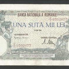 ROMANIA  100000  100.000 LEI  28  MAI  1946   [11]   VF+