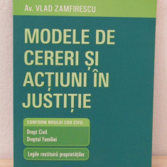 Av. Vlad Zamfirescu - Modele de cereri si actiuni in justitie